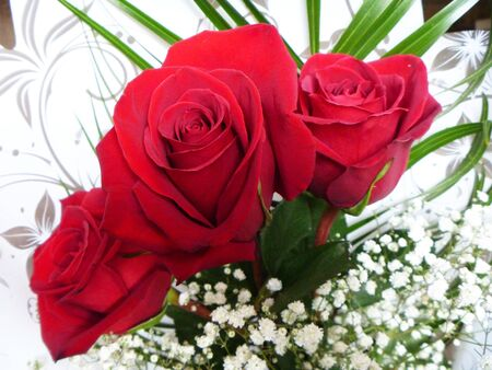 overhand: Three red roses