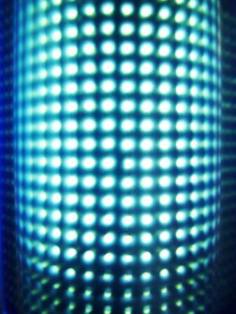 inwardly: Luminous blue stand