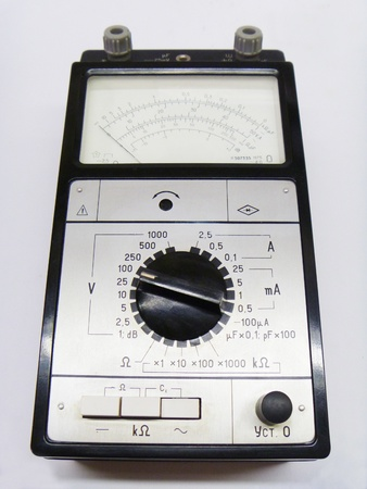 voltages: Multifunction instrument for measurement of the current and voltages Stock Photo