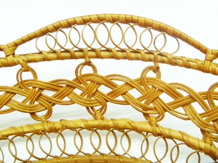 interlace: Braided pattern from lead Stock Photo
