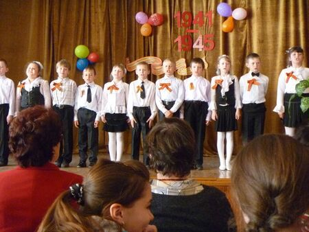 concerto: School concerto to day of the victory