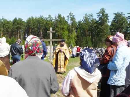 Pominovenie deceased on graveyard