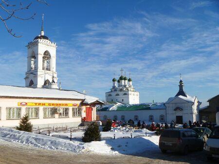 Trade area beside sewer Reverently-Bogoyavlenskogo male priory in Mstyore Stock Photo - 18368122