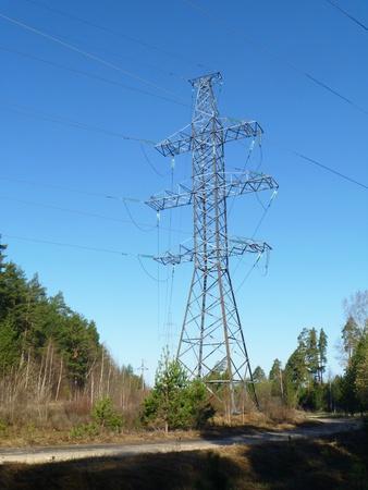 handhold: Electric handhold on background blue sky