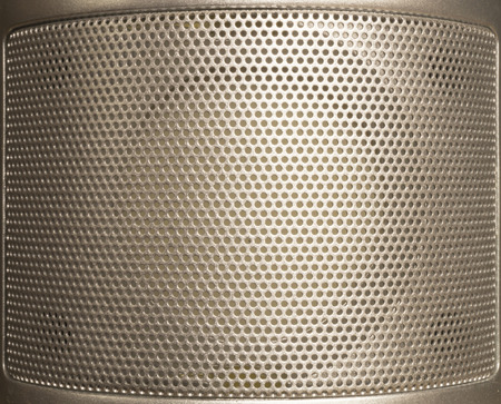 silvery: Silvery background from metallic net with round hole