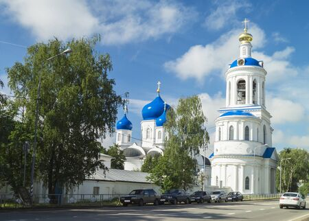 bogolyubovo: Nunnery on background blue sky in city Bogolyubovo,Russia