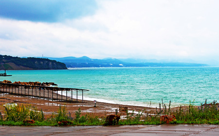 Beautiful landscape with by sea and coast line in year season