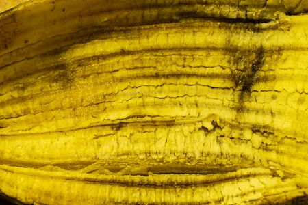 The Texture of the banana skin inwardly. Horizontal background from pulp