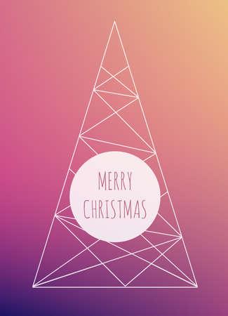 minimalist: Christmas tree, minimalist design Illustration