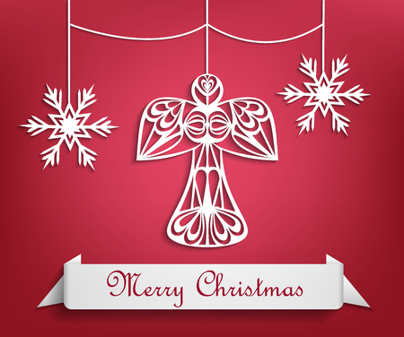 christmas angels: Merry christmas, angel