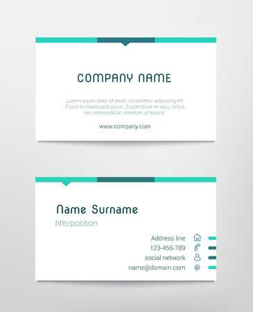 minimalist: Business card