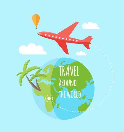exotics: Travel infographic, flat design