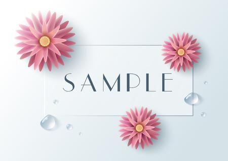 3d flower: Flower, template, background, abstract