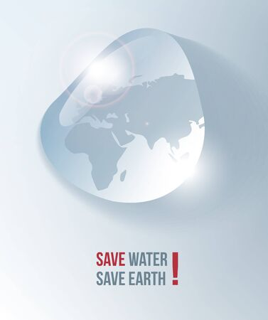 water sea: Save water, flyer, poster, vector