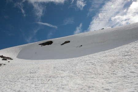 overhang: snow overhang