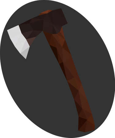 tomahawk: Low Polygonal Axe clean illlustration