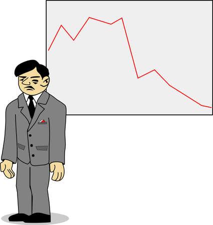 aciculum: bad sadness businesman vector illustration