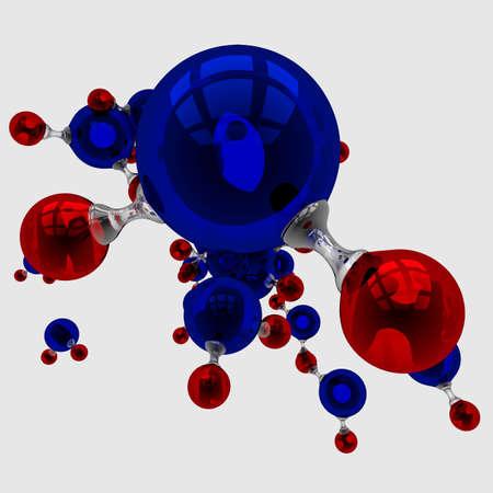 biomolecules: H2O chemical element 3d render illustration