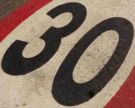thirty: speed limit thirty