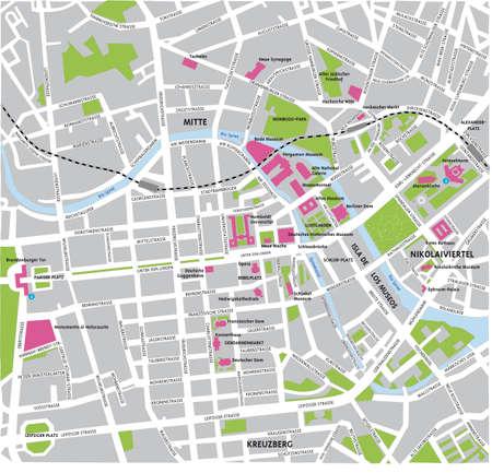 berlin: Berlin map
