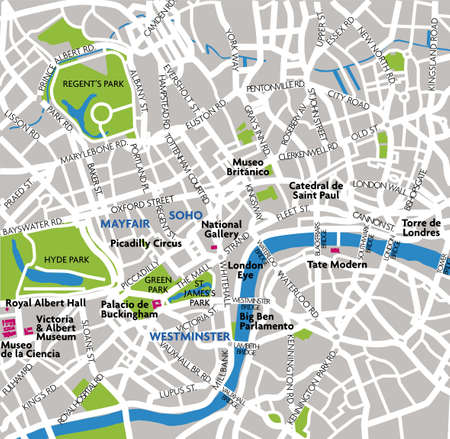 plano: London map