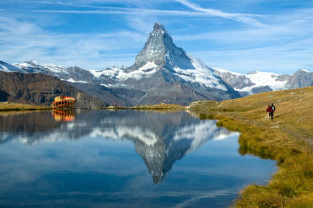 naturaleza: Swiss-Zermatt-Stellisee-Cervino