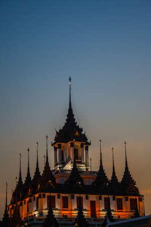 Charming Ratchanadda temple of Bangkok Stock Photo