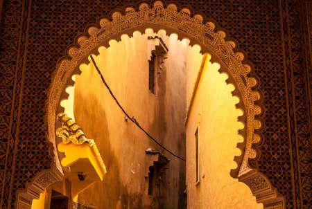medina: Tipical stree of Medina in Morocco