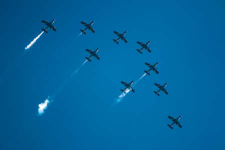 pilotage: Airshow in Italy, near Parma Editorial