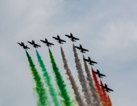 Airshow in Italy, near Parma Stock Photo