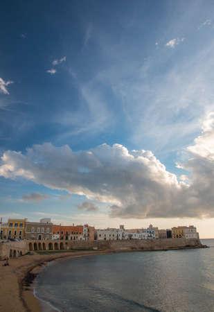 ionio: Beach of Gallipoli, Salento, South Italy Stock Photo