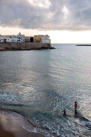 ionio: Beach of Gallipoli, Salento, South Italy Editorial