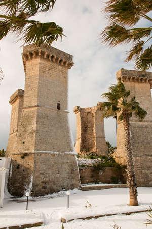 Quattro Colonne Near Santa Maria Al Bagno, Salento, Italy Stock ...