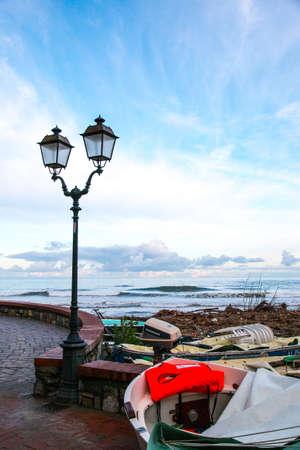 tyrrhenian: Tyrrhenian coast, Alassio, italy