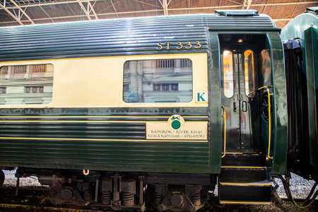 the Eastern & Oriental Express Luxury Trains at Hua Lamphong railway station, Bangkok, Thailand