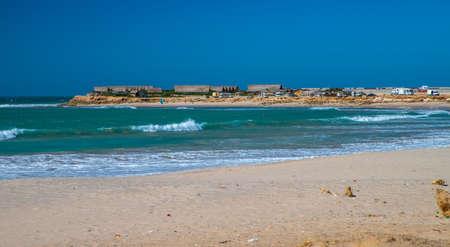 surfers on the Dakhla sea, Western Sahara, Morocco