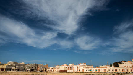 view of Dakhla, a city of Western Sahara, Morocco Stock Photo