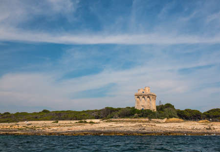 Watchtower near ionian sea (Torre Sabea), Salento, south Italy Banque d'images