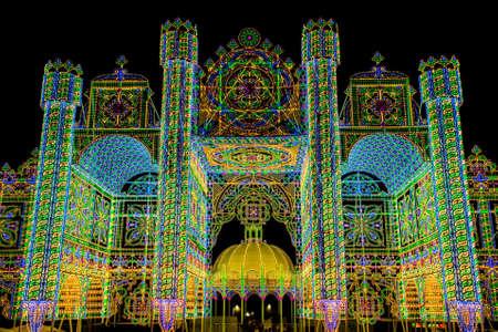Festival of lights in Scorrano, Salento, South Italy Reklamní fotografie