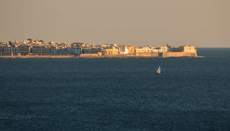 Panoramic view of gallipoli, a village near ionian sea, Apulia, Salento, Italy Banque d'images