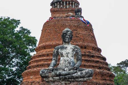 Wat Wora Chet Tha Ram, a Buddhist temple of archaeological park, Ayutthaya, Thailand
