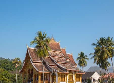 Haw Pha Bang temple, near Royal Palace of Luang Prabang, Laos Editorial