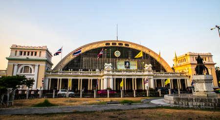 Bangkok Railway Station (Hua Lamphong). This is the main railway station in Bangkok, Thailand Editorial