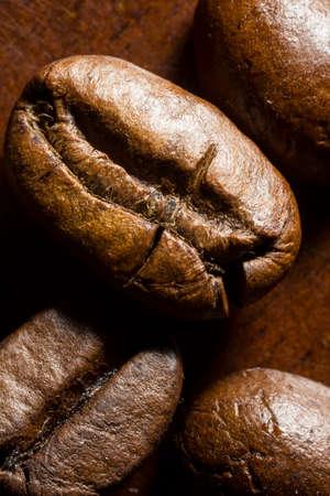 Extreme macro shot of coffee beans