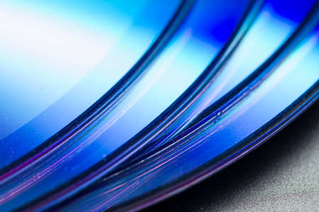 Close up detail of CD ROM, an old digital technology Archivio Fotografico