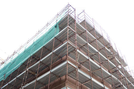 Detail of a building construction site.