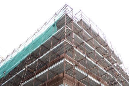 Detail einer Hochbau-Baustelle.