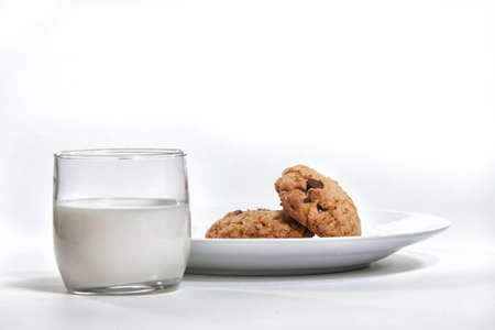 Milk and cookies Stok Fotoğraf