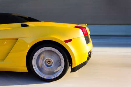 Yellow Sport Car II Stock Photo - 9313929