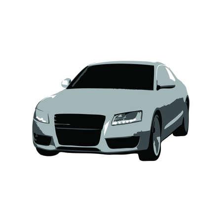 exotic car: Grey Sport Car